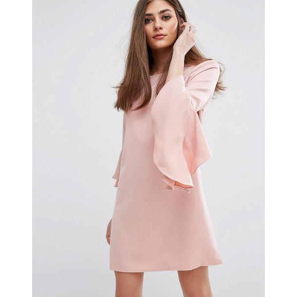 """MISSGUIDED Ruffle Flute Sleeve Shift Dress - """"""""Dress by Missguided, Stretch woven fabric, Round neck,..."""