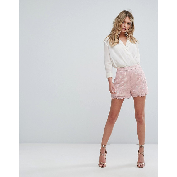 "MISSGUIDED Scallop Trim Shorts - """"Shorts by Missguided, Lined lace, High-rise waist,..."