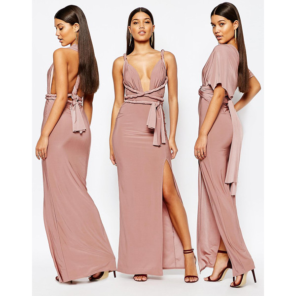 MISSGUIDED Slinky Multiway Maxi Dress - Maxi dress by Missguided, Woven stretch fabric, Iridescent...