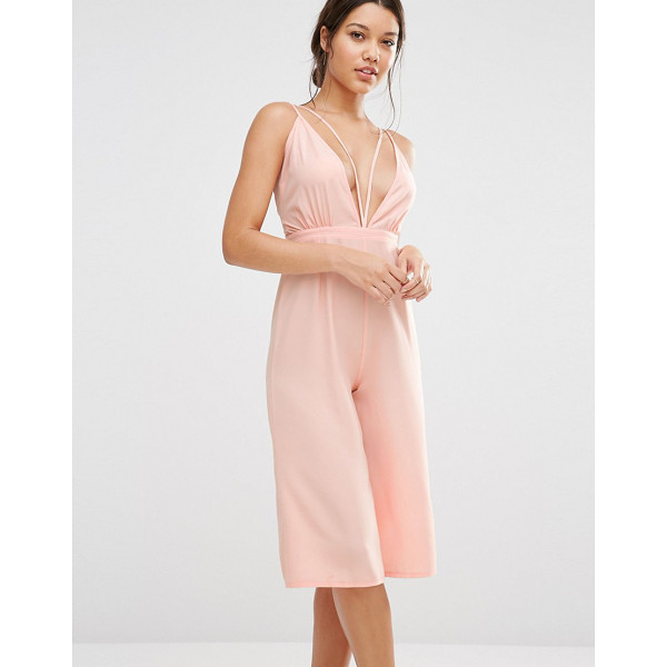 MISSGUIDED Strappy Culotte Jumpsuit - Jumpsuit by Missguided, Lightweight woven fabric,...