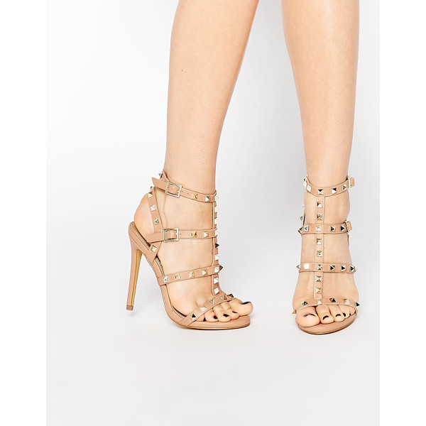 "MISSGUIDED Studded Heeled Gladiator Sandal - """"Heels by Missguided, Faux leather upper, Strappy design,..."