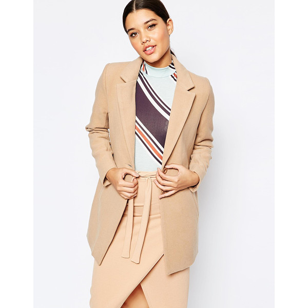 MISSGUIDED Tailored Blazer - Coat by Missguided, Woven fabric, Notch lapel collar,...