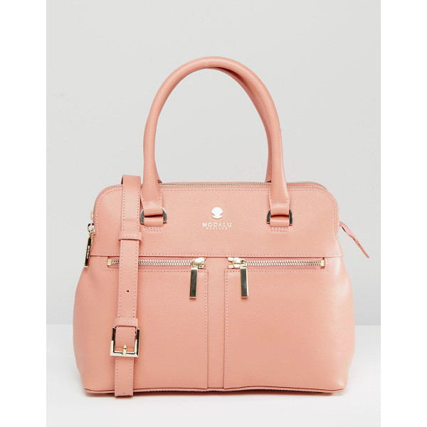 MODALU Leather Pippa Tote Bag - Cart by Modalu, Leather outer, Twin handles, Double zip top...