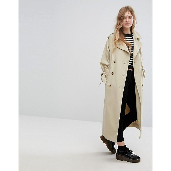 """MONKI Heritage Trench Coat - """"""""Trench coat by Monki, Smooth woven fabric, Point collar,..."""