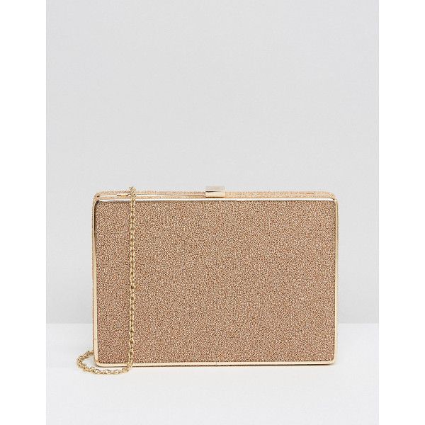 NALI Stone Detail Clutch Bag - Cart by Nali, Textured outer, Structured design, Gold tone...