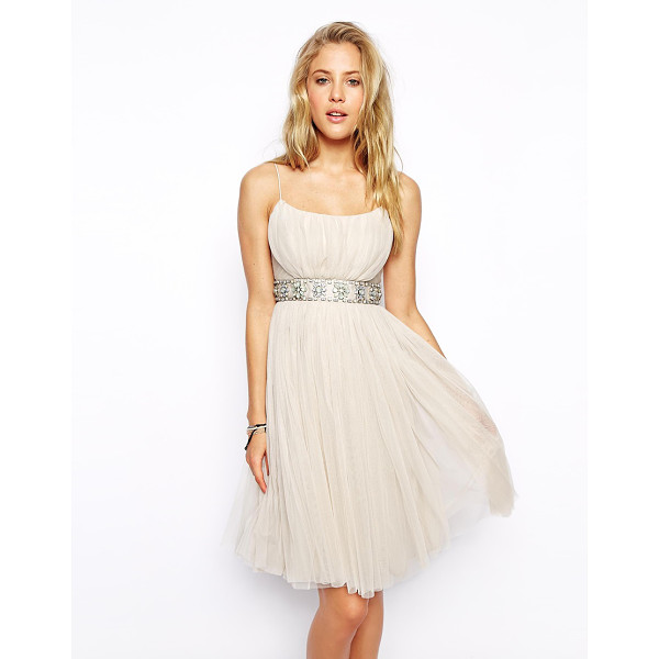 NEEDLE & THREAD Tulle ballet midi dress - Midi dress by Needle & Thread Made from a breathable tulle...