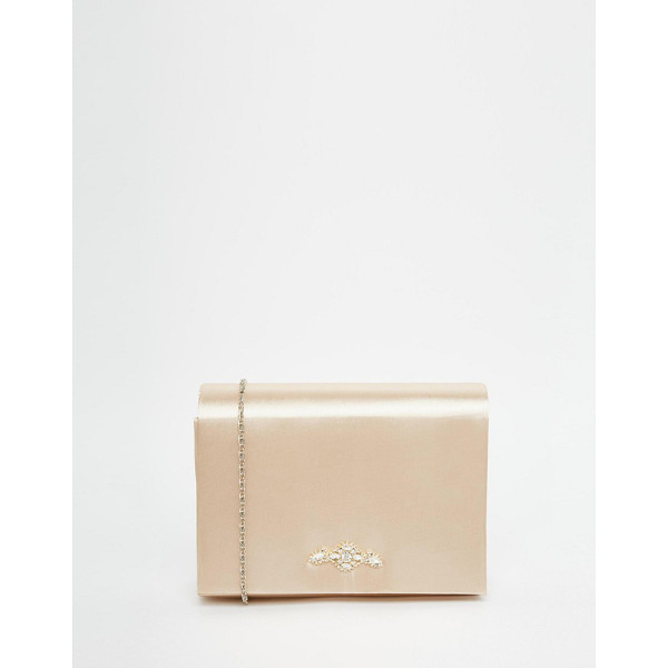 NEVE & EVE Box clutch bag with jewel - Cart by Neve & Eve, Gold-plated outer, Hard case design,...