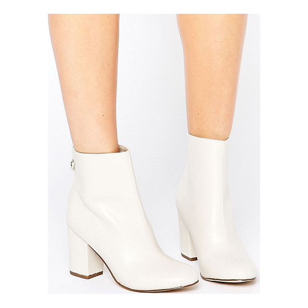 NEW LOOK 60's Block Heel Boots - Boots by New Look, Faux-leather upper, Zip-back fastening,...