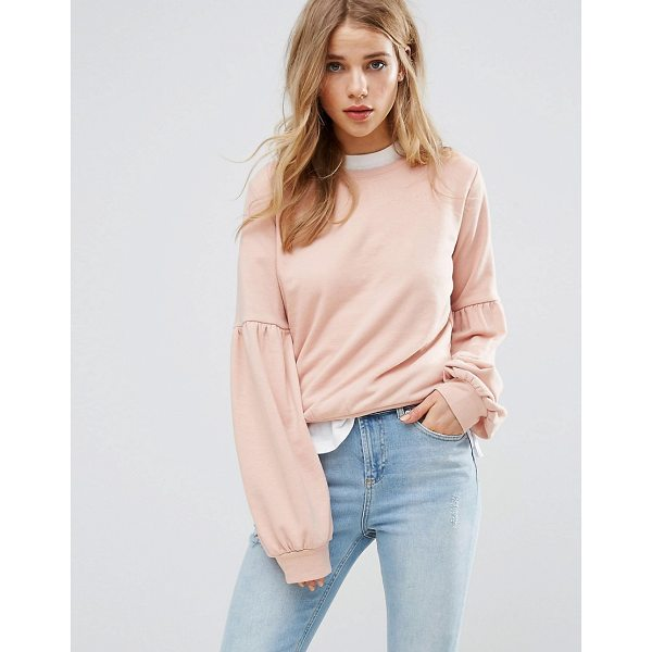 """NEW LOOK Balloon Sleeve Sweatshirt Sweater - """"""""Sweater by New Look, Soft knitted fabric, Crew-neck,..."""