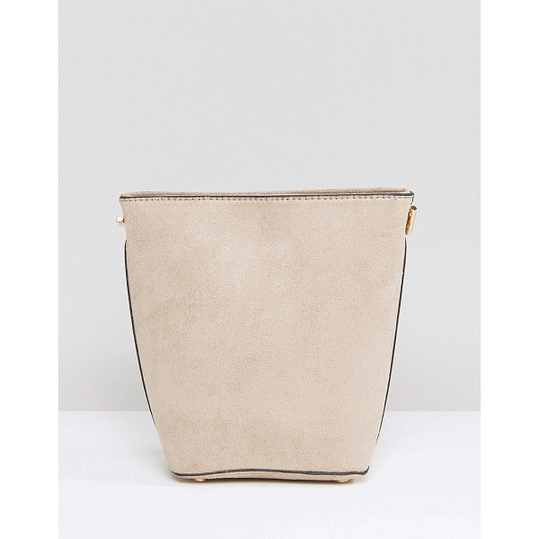NEW LOOK Chain Suedette Bucket Bag - Cart by New Look, Faux leather outer, Fully lined, Single...