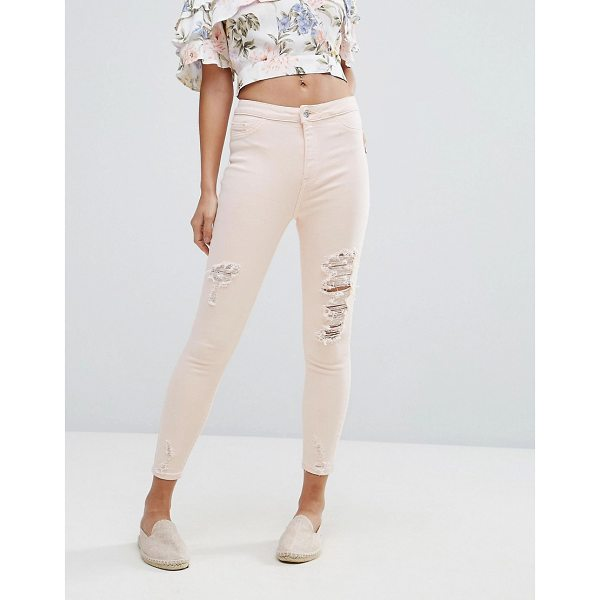 "NEW LOOK Distressed Knee Skinny Jean - """"Skinny jeans by New Look, Stretch denim, High-rise waist,..."