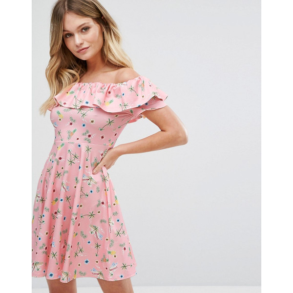 "NEW LOOK Floral Bardot Dress - """"Skater dress by New Look, Smooth and soft woven fabric,..."