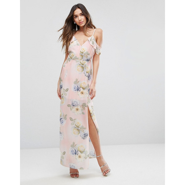 "NEW LOOK Floral Print Cold Shoulder Maxi Dress - """"Maxi dress by New Look, Smooth woven fabric, Fully lined,..."