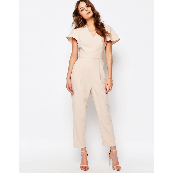 NEW LOOK Flutter Sleeve Jumpsuit - J umpsuit by New Look, Lightweight woven fabric, Textured...