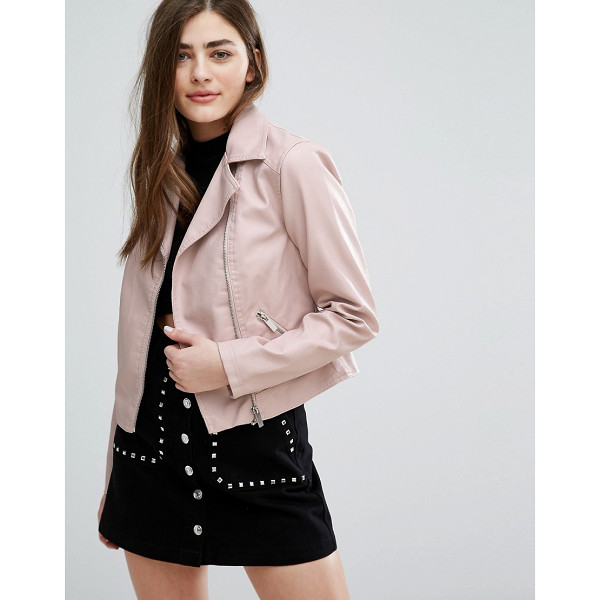 "NEW LOOK Leather Look Biker Jacket - """"Biker jacket by New Look, Faux-leather, Fully lined,..."