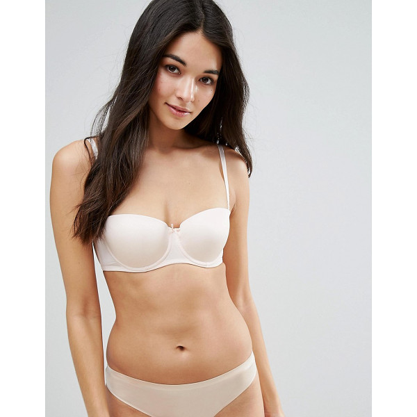 NEW LOOK Microfibre Strapless Bra - Bra by New Look, Smooth nylon-rich fabric, Underwire...