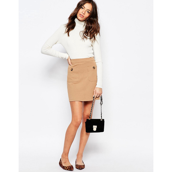 NEW LOOK Pocket detail a-line skirt - Skirt by New Look, Soft-touch ponte, Unlined design, Mid...