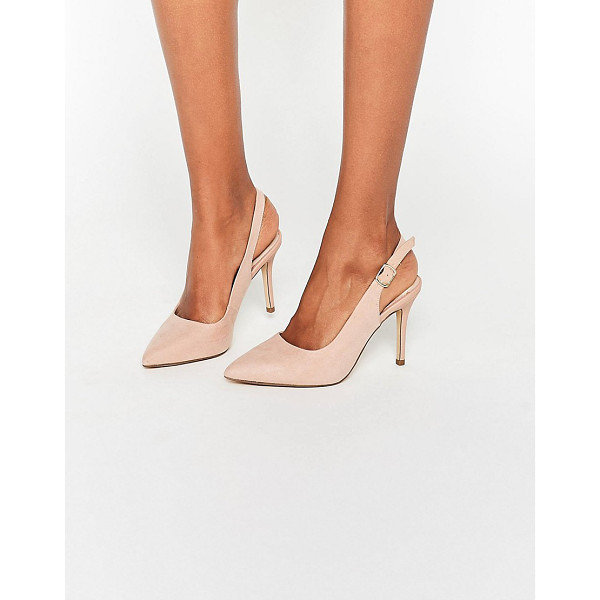 NEW LOOK Slingback Pointed Shoe - Shoes by New Look, Faux-suede upper, Ankle-strap fastening,...