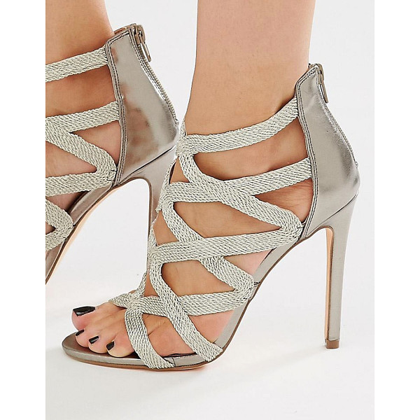 NEW LOOK Strappy Sandal - Sandals by New Look, Glitter flecked upper, Caged strapped...