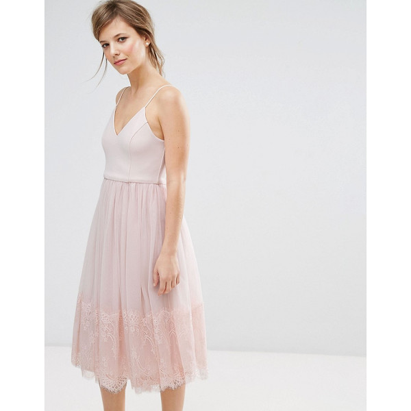 "NEW LOOK Tulle Midi Prom Dress - """"Dress by New Look, Smooth woven top, Cami straps, Fitted..."