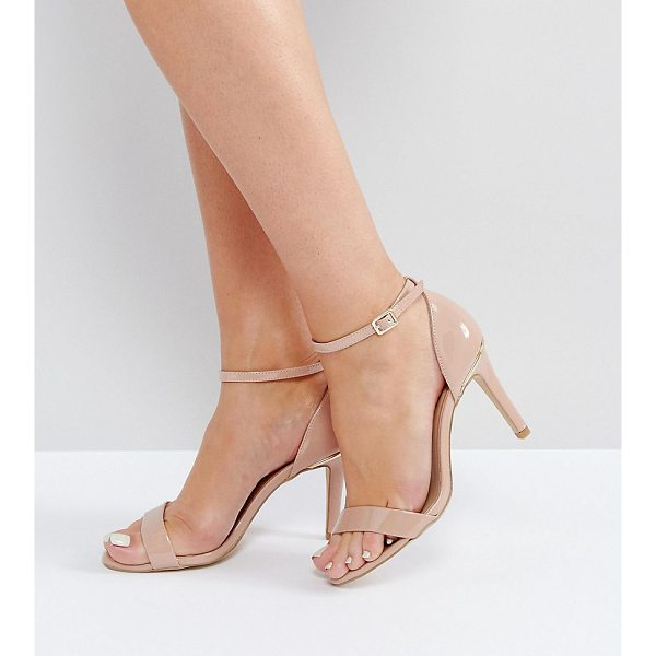 "NEW LOOK WIDE FIT Barely There Heeled Sandal - """"Heels by New Look, Patent upper, Ankle-strap fastening,..."