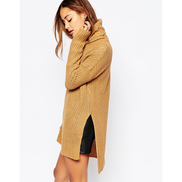 NOISY MAY Favor long roll neck knit - Sweater by Noisy May Mid-weight ribbed knit Roll neckline...