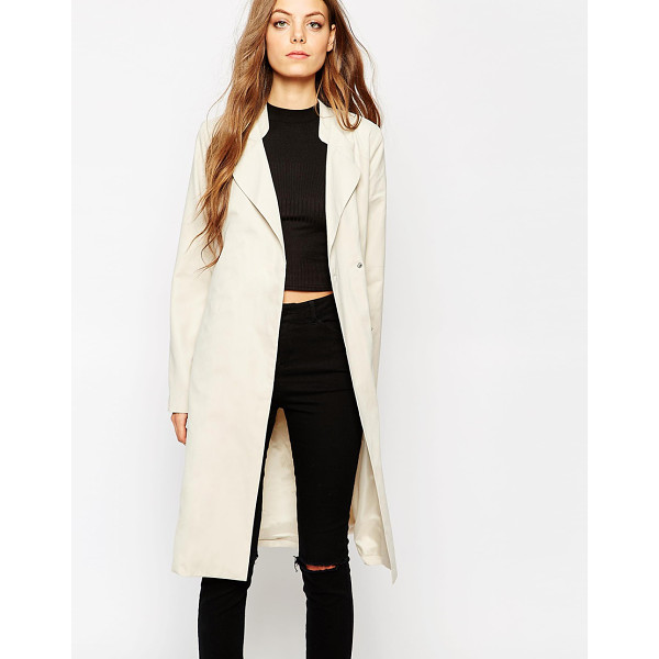 NOISY MAY Long trench coat - Coat by Noisy May Lightweight, super soft-touch fabric...