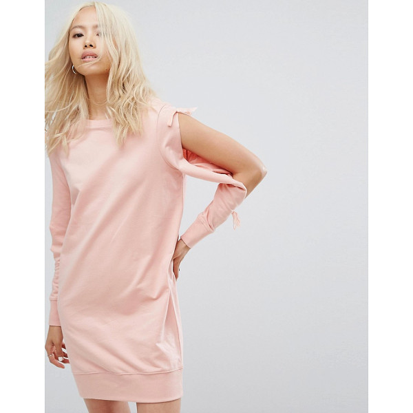 """NOISY MAY Sweatshirt Dress with Open Sleeve Detail - """"""""Dress by Noisy May, Soft-touch sweat, Crew neck, Split"""