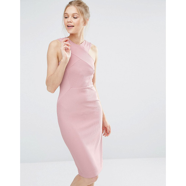 "OASIS Cross Front Bodycon Dress - """"Bodycon dress by Oasis, Ribbed knitted fabric, High..."