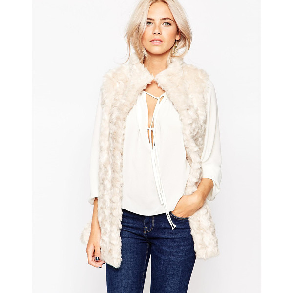 OASIS Faux fur vest - Coat by Oasis Fluffy, textured fabric Soft-touch finish...