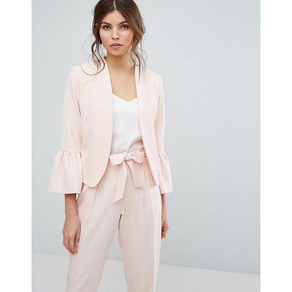 """OASIS Fluted Sleeve Blazer - """"""""Blazer by Oasis, Smooth woven fabric, Open front,..."""
