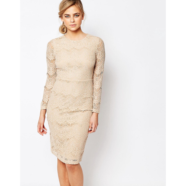 OASIS Lace Shift Dress - Lace dress by Oasis, Lined lace, Round neckline, Empire...