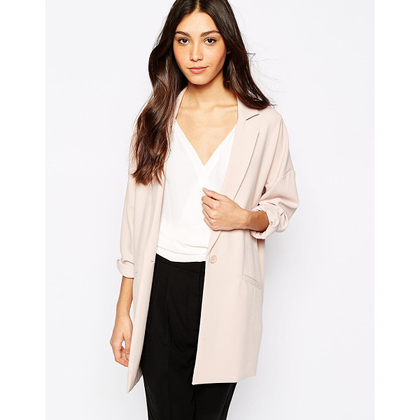 OASIS Longline soft blazer - Blazer by Oasis Woven fabric Long, notch lapels Single...