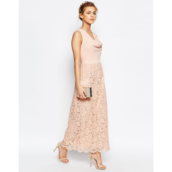OASIS Premium Lace Cowl Neck Maxi Dress - Maxi dress by Oasis, Woven fabric bodice, Lined lace skirt,...