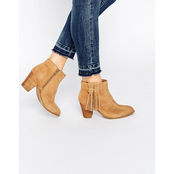 OASIS Western block heeled ankle boot - Shoes by Oasis, Real suede upper, Almond toe, Stacked heel,...