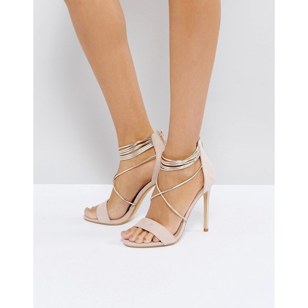 OFFICE Hollywood Blush Heeled Sandals - Heels by Office, Textile upper, Zip-back fastening, Wrap...