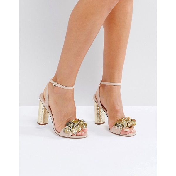"OFFICE Honor Embellished Sandals - """"Sandals by Office, Textile upper, Ankle-strap fastening,..."