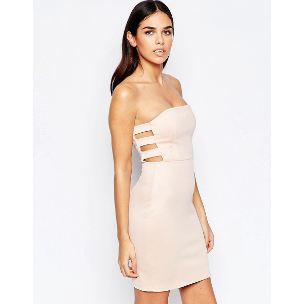 OH MY LOVE Bodycon Dress With Cut Out Sides - Dress by Oh My Love, Smooth stretch fabric, Bandeau