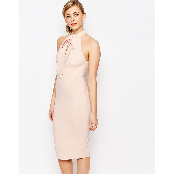 OH MY LOVE Bow Cut Out Midi Dress - Midi dress by Oh My Love, Stretch knitted fabric, High...