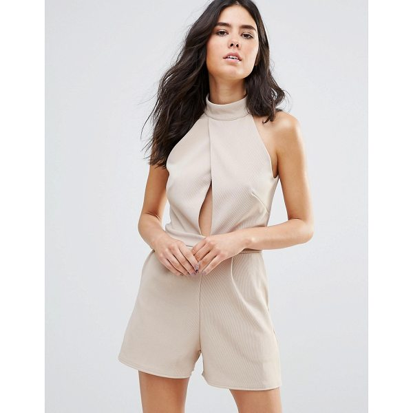 OH MY LOVE Choker Detail Jumpsuit - Jumpsuit by Oh My Love, Smooth stretch fabric, Choker-style...