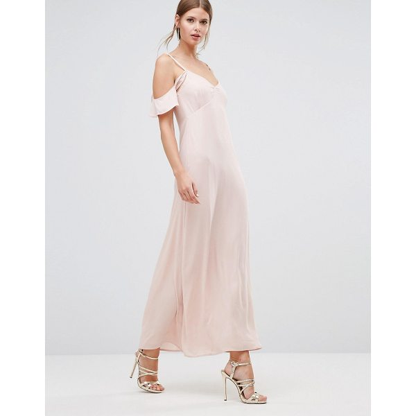 """OH MY LOVE Frill Off Shoulder Maxi Dress - """"""""Maxi dress by Oh My Love, Lined woven fabric, V-neckline,..."""