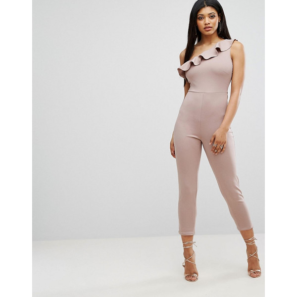 """OH MY LOVE Frill One Shoulder Jumpsuit - """"""""Jumpsuit by Oh My Love, Smooth stretch fabric, Asymmetric..."""