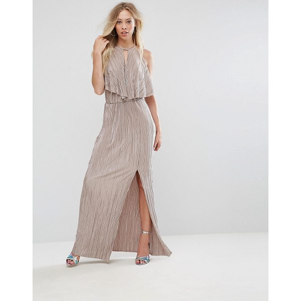 """OH MY LOVE Grecian Frill Front Pleated Maxi Dress - """"""""Maxi dress by Oh My Love, Pleated fabric, Grecian front,..."""
