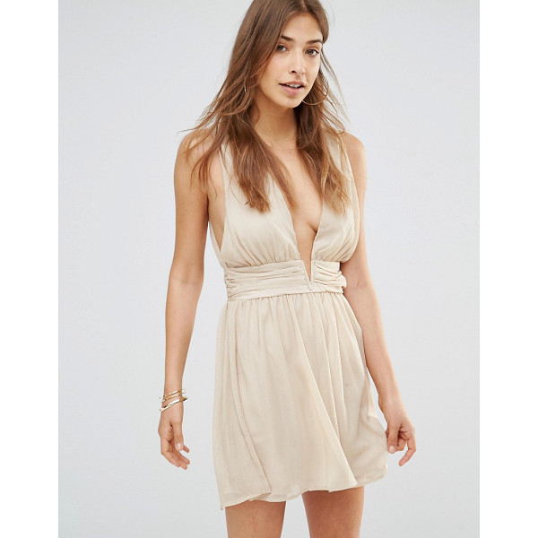 OH MY LOVE Grecian Mini Plunge Dress - Dress by Oh My Love, Lined chiffon, Plunge neckline, Wired