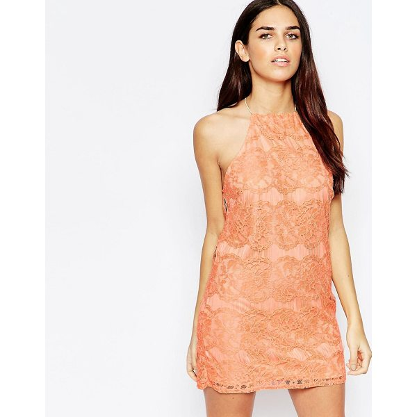 "OH MY LOVE Lace Mini Dress with Open Back - """"Dress by Oh My Love, Lined lace, Square neckline, Keyhole..."