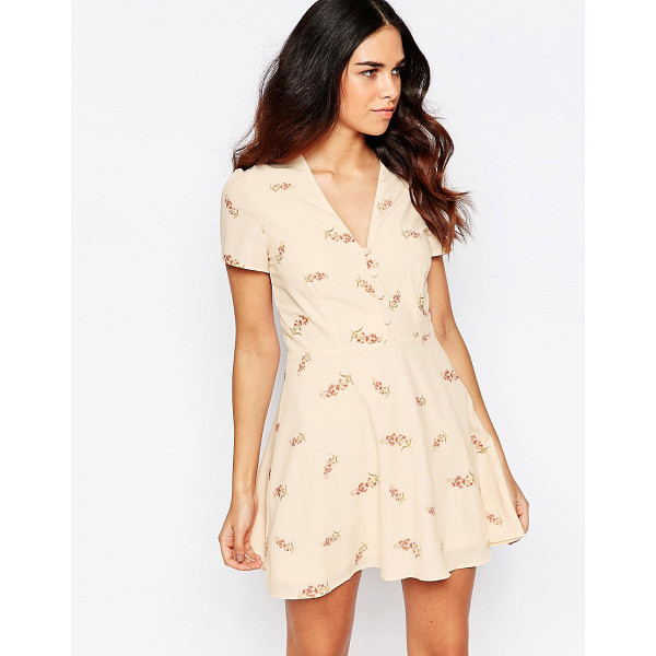 OH MY LOVE Printed tea dress - Dress by Oh My Love Lined woven fabric V-neckline All-over...