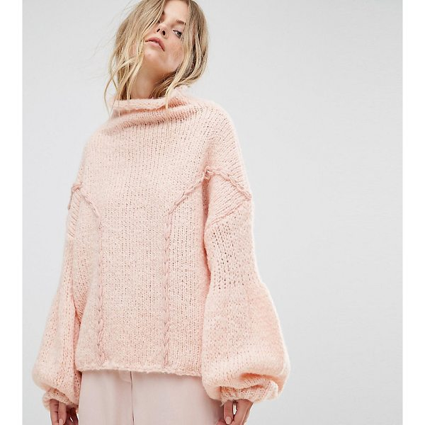 """ONEON OneOn Hand Knitted Soft Cable Sweater - """"""""Sweater by Oneon, Soft-touch knit, High neck, Dropped..."""