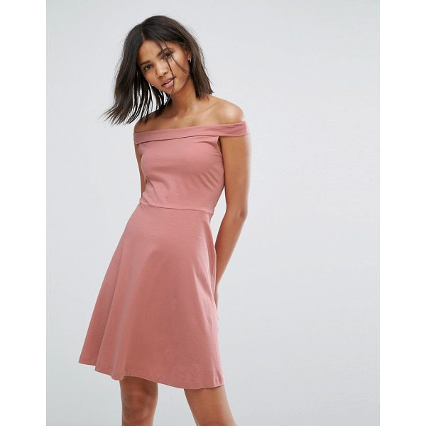 "ONLY Bardot Skater Dress - """"Dress by Only, Woven cotton, Bardot neck, Regular fit -..."
