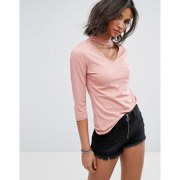 """ONLY Choker Top - """"""""Top by Only, Soft-touch jersey, High choker-style neck,..."""