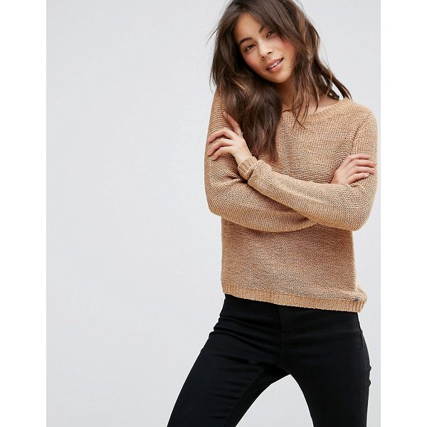 "ONLY Knitted Sweater - """"Sweater by Only, Chunky knit, Scoop neck, Ribbed cuffs..."